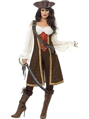 Womens High Seas Pirate Wench Costume Movie Fancy Dress Party Sexy Pirate Outfit