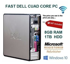 Rapide-Dell-Quad-Core-Ordinateur-PC-De-Bureau-Tour-Windows-10-WiFi-8-Go-RAM-1000-Go-Disque-dur