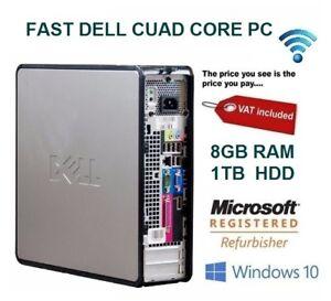 Rapido-Dell-Quad-Core-PC-Torre-escritorio-Windows-10-Wifi-8-GB-RAM-1000-GB-HDD