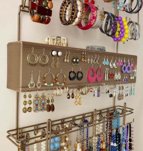 Longstem #7100 Bronze Over the Door Jewelry Organizer Storage Rack ~ Rated Best