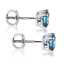 Valentine-Special-1-00CT-Round-Blue-Diamond-14K-White-Gold-Over-Stud-Earrings thumbnail 2