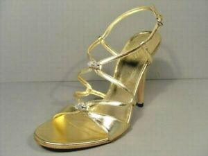 Gucci 38.5/8.5 Metallic Gold Leather