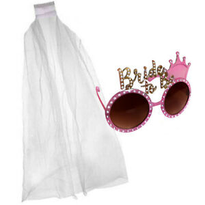 PINK-GOLD-BRIDE-TO-BE-GLASSES-amp-WHITE-VEIL-HEN-NIGHT-PARTY-DO-NOVELTY-ACCESSORY