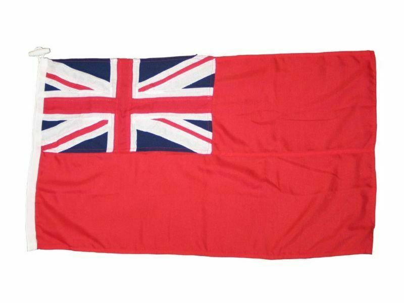 RED ENSIGN QUALITY FLAG BRITISH RED SEWN 1 YARD BOATING SAILING YACHT