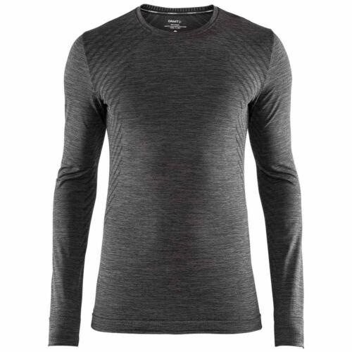 Craft Messieurs fuseknit Comfort Baselayer Chemise manches longues Fonction Shirt Noir Mela