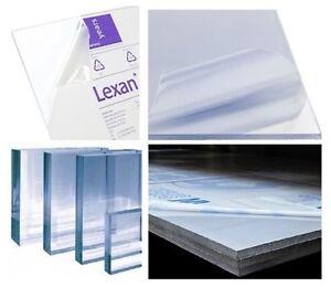 24 x 48 6 mm Polycarbonate Lexan Clear Plastic Sheet 1//4