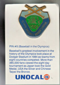 1980-039-s-L-A-DODGERS-UNOCAL-PIN-UNUSED-BASEBALL-IN-THE-OLYMPICS