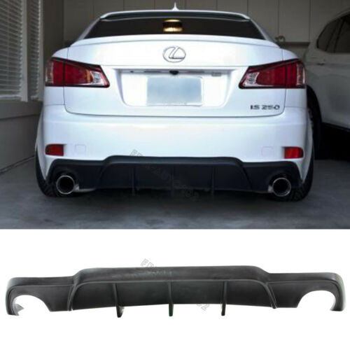 Fit For 06-13 Lexus IS250 IS350 DMR Style Rear Bumper Lip Spoiler Diffuser PU