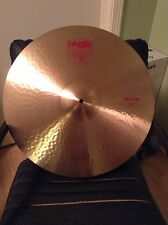 "Paiste 2002 Series 20"" Medium Crash Cymbal! Almost Perfect! L👀K! WOW!!"