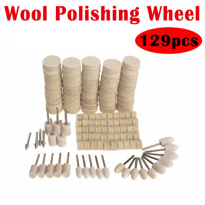 88pcs Wool Wheel Felt Polishing Buff Buffing Pads Buffer Set Rotary Bit Tool