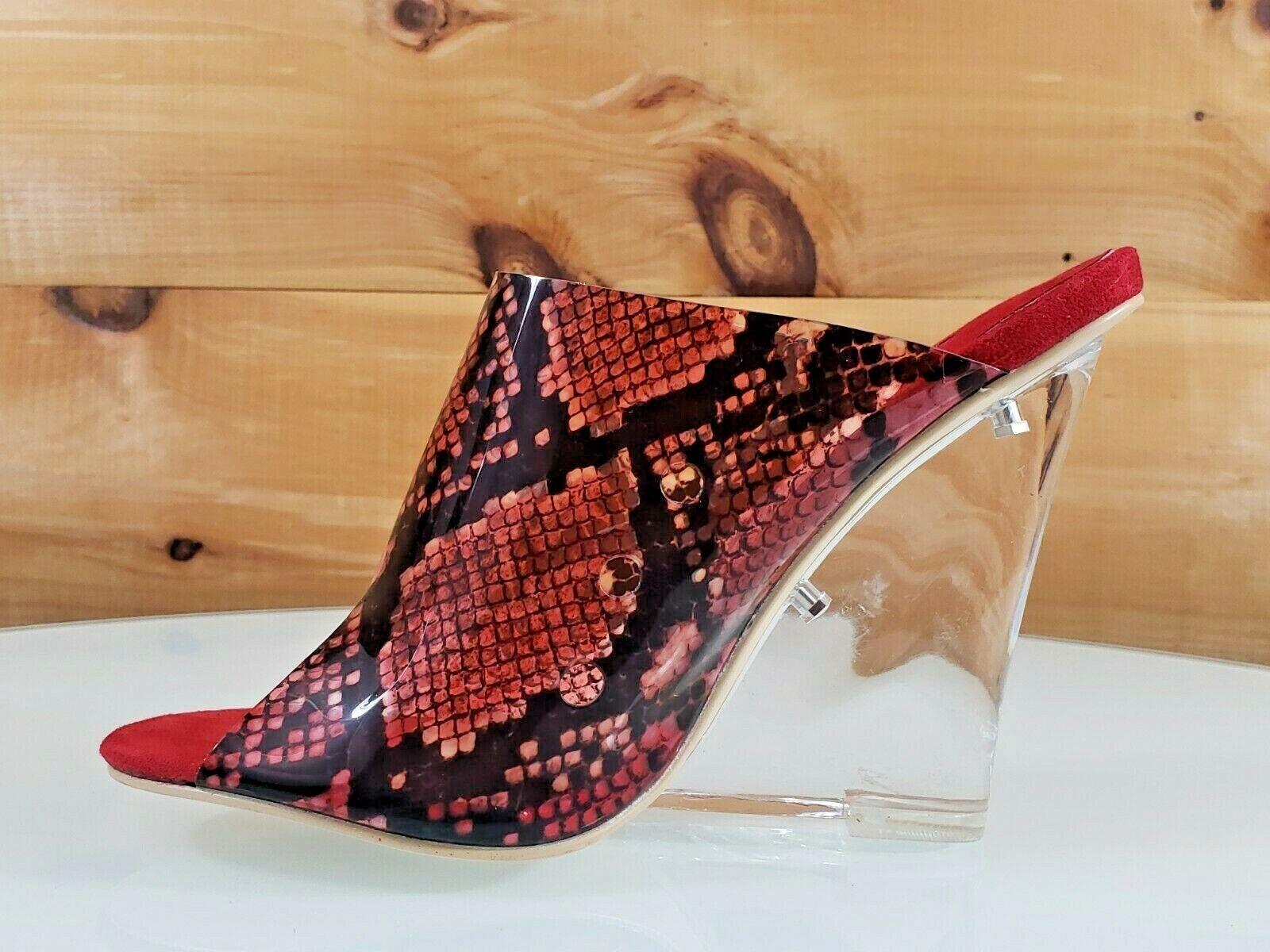 MAC J Rouge Transparent Snake Print slip on Boucher 4.5  Acrylique Clair Compensé 7-11