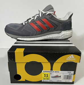 Details about ADIDAS SUPERNOVA BOOST ST AKTIV RUNNING SHOES MEN'S SIZE11 M GREY Red DA9658 New