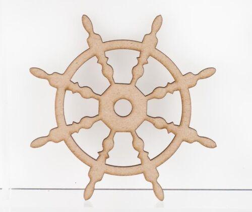 MDF Wooden Craft Shapes Anchors Yacht Ship Wheel Anchor Cross Chain Ribbon