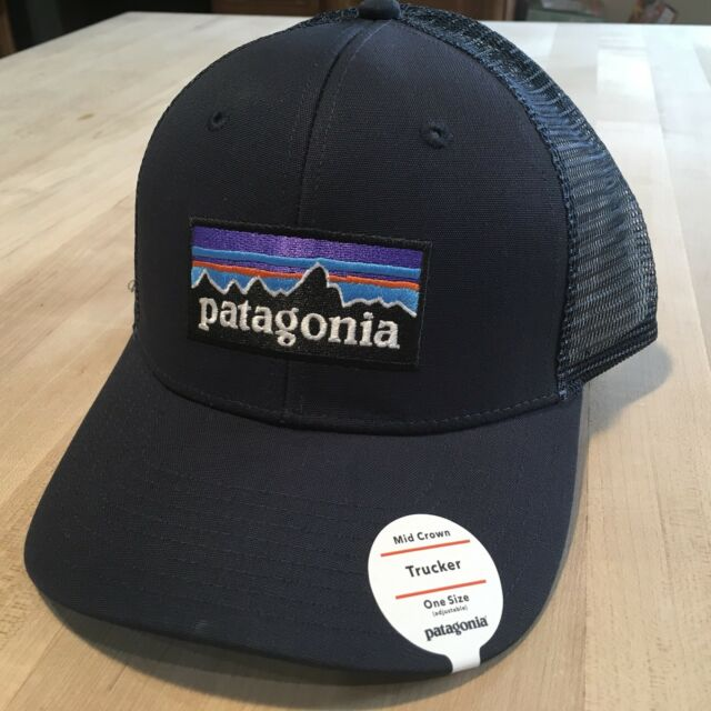 1422101e03193 Patagonia Fitz Roy Bear Trucker Hat - NEW WITH TAGS - Navy Blue