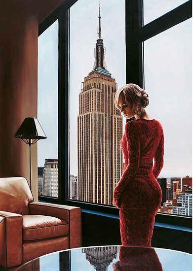 Pierre Benson  Interior in NYC Keilrahmen-Bild Leinwand Frau New York Interieur