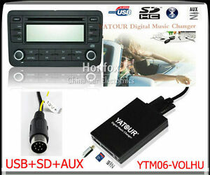 Yatour-Digital-CD-changer-for-Volvo-HU-XXX-radios-Mini-Din-AUX-SD-USB-Adapter