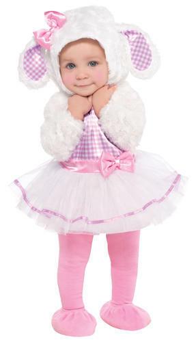 Little Lamb Toddlers Animal Fancy Dress Girls Nursery Rhyme Childs Kids Costume