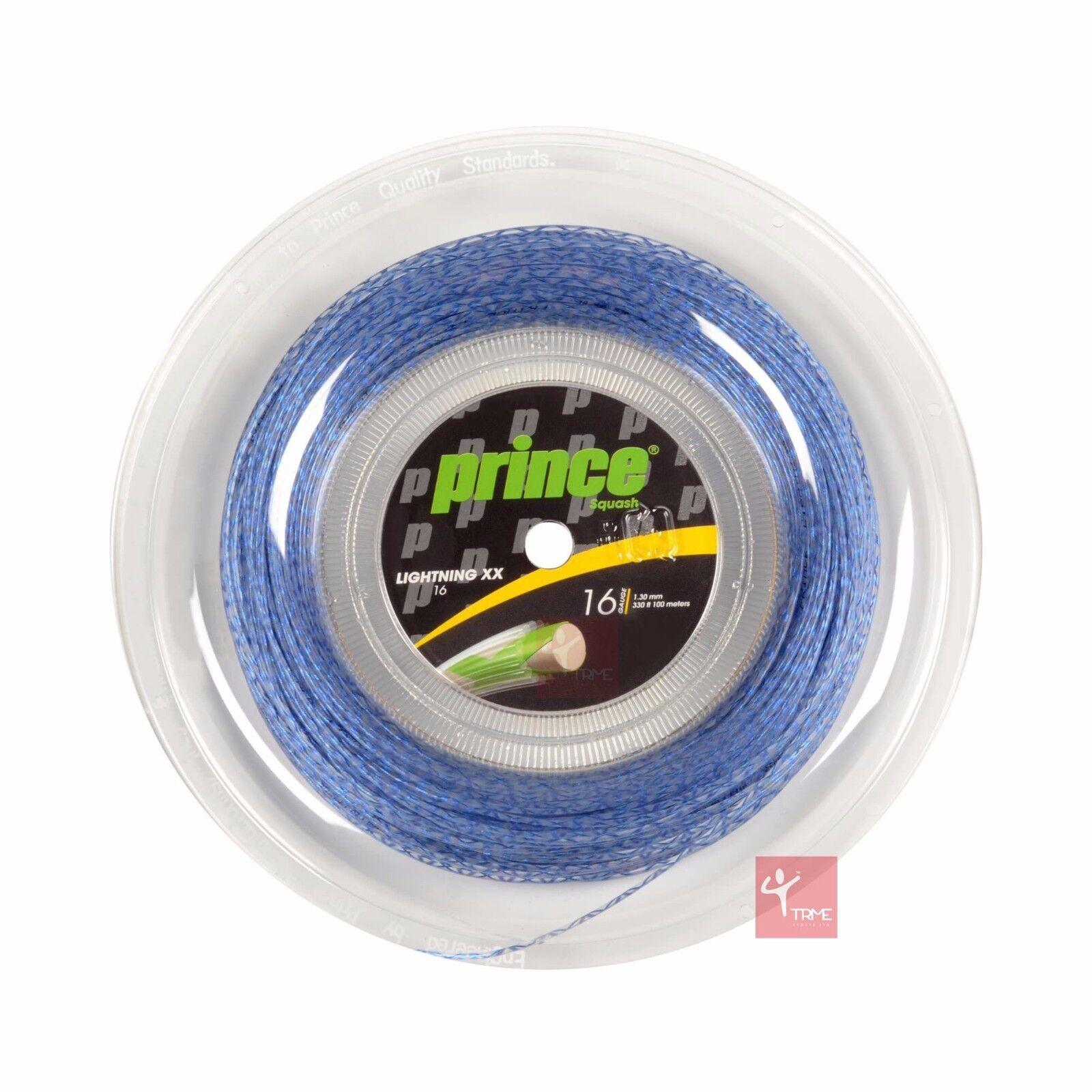Prince Lightning XX Squash String 100m Reel 16   1.30mm - bluee