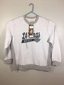 huge discount 4ca46 fdd80 CCM NHL La Kings Hockey Vtg Nwt Gray Sweater 2XL   eBay