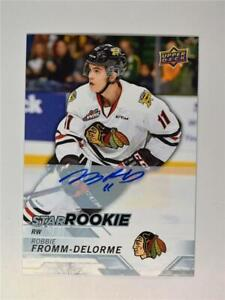 2018-19 18-19 UD Upper Deck CHL Auto #361 Robbie Fromm-Delorme