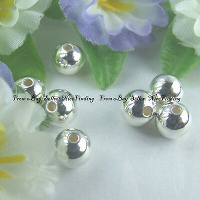 a1001 50pcs Silver Plated CCB Beads 8mm Finding