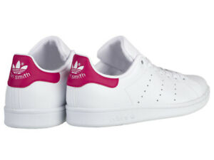 new arrival 669ee 2891a Details about NEW ADIDAS YOUTH UNISEX ORIGINALS STAN SMITH [B32703]  WHITE//WHITE-PINK