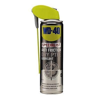 WD-40 44415 Specialist Anti Friction Dry PTFE Lubricant 250ml Smart Straw Garage
