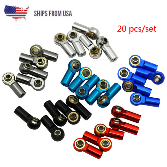 Gaetooely 5Pcs M3 Ball Joint Link Rod Bar Seals Head Ball Tie Rod End for 1//10 Rc Truck Car Truck Buggy Black