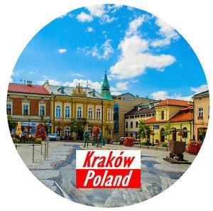 Details about KRAKOW, POLAND - ROUND SOUVENIR FRIDGE MAGNET - SIGHTS /  FLAGS / NEW / GIFTS