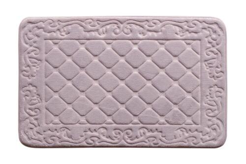 "Light Purple Bath Mat//Rugs Luxurious Anti-slip 31/""x19/"" Memory Foam Bath Rug"