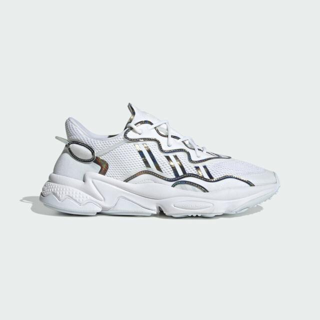 Size 9.5 - adidas Ozweego White Iridescent - FV9654