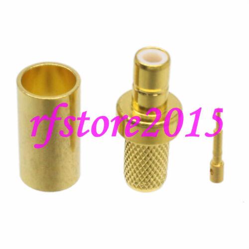 1pce Connector SMB male plug crimp RG58 RG142 LMR195 RG400 RF COAXIAL straight
