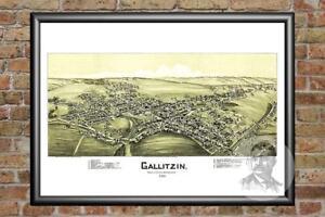 Old-Map-of-Gallitzin-PA-from-1901-Vintage-Pennsylvania-Art-Historic-Decor