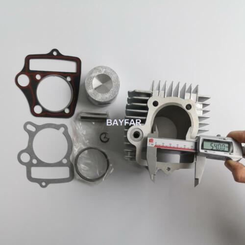 54mm Aluminum big bore kit Cylinder set for C100 C110 ZS110 LF110 152FMH 125cc