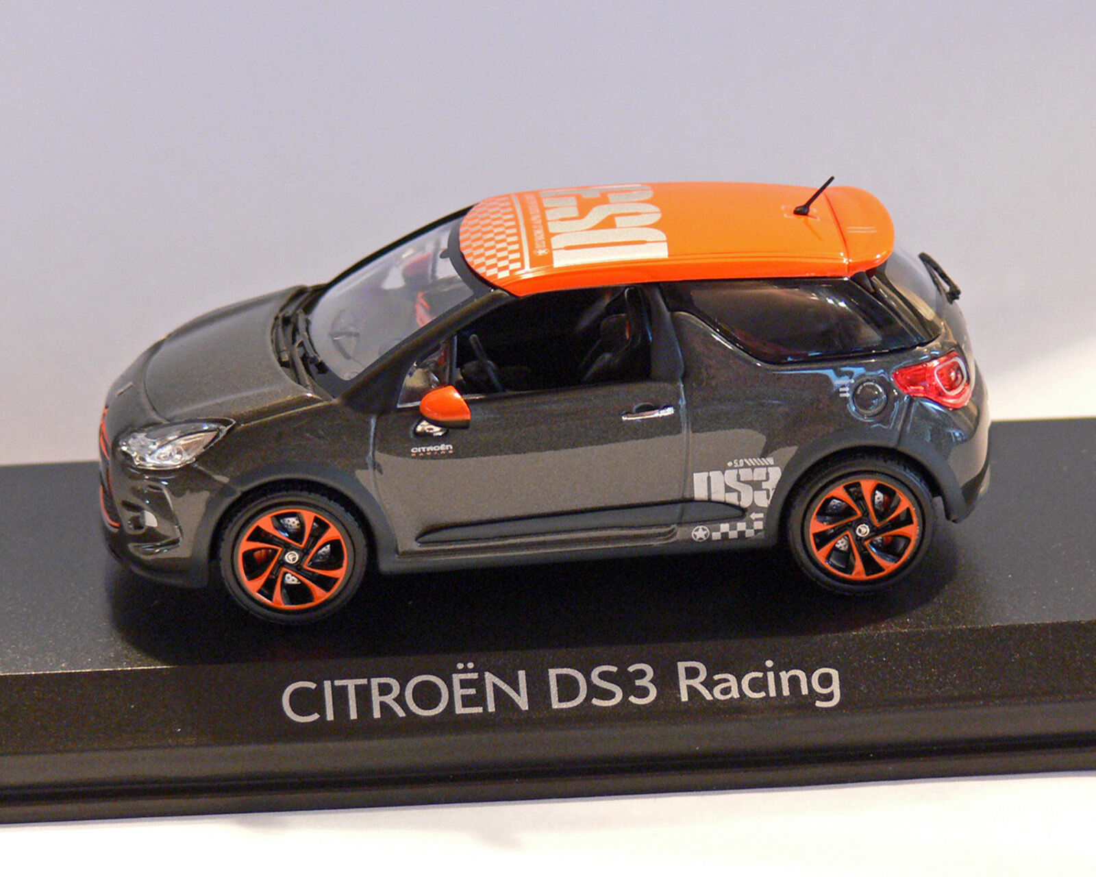 Citroen Ds 3, Racing, Grey orange, 2010, Norev 1 43