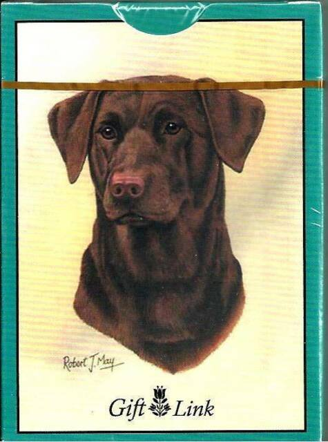 Golden Retriever Dog Playing Cards Sealed Deck 2006 Gift Link Artist Robert May