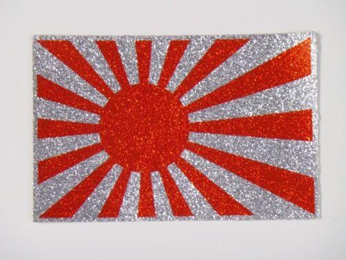 """Vintage NOS 1970s Japanese Flag Decal 4-1//2 x 3/"""" dirt bike motorcycle AHRMA"""