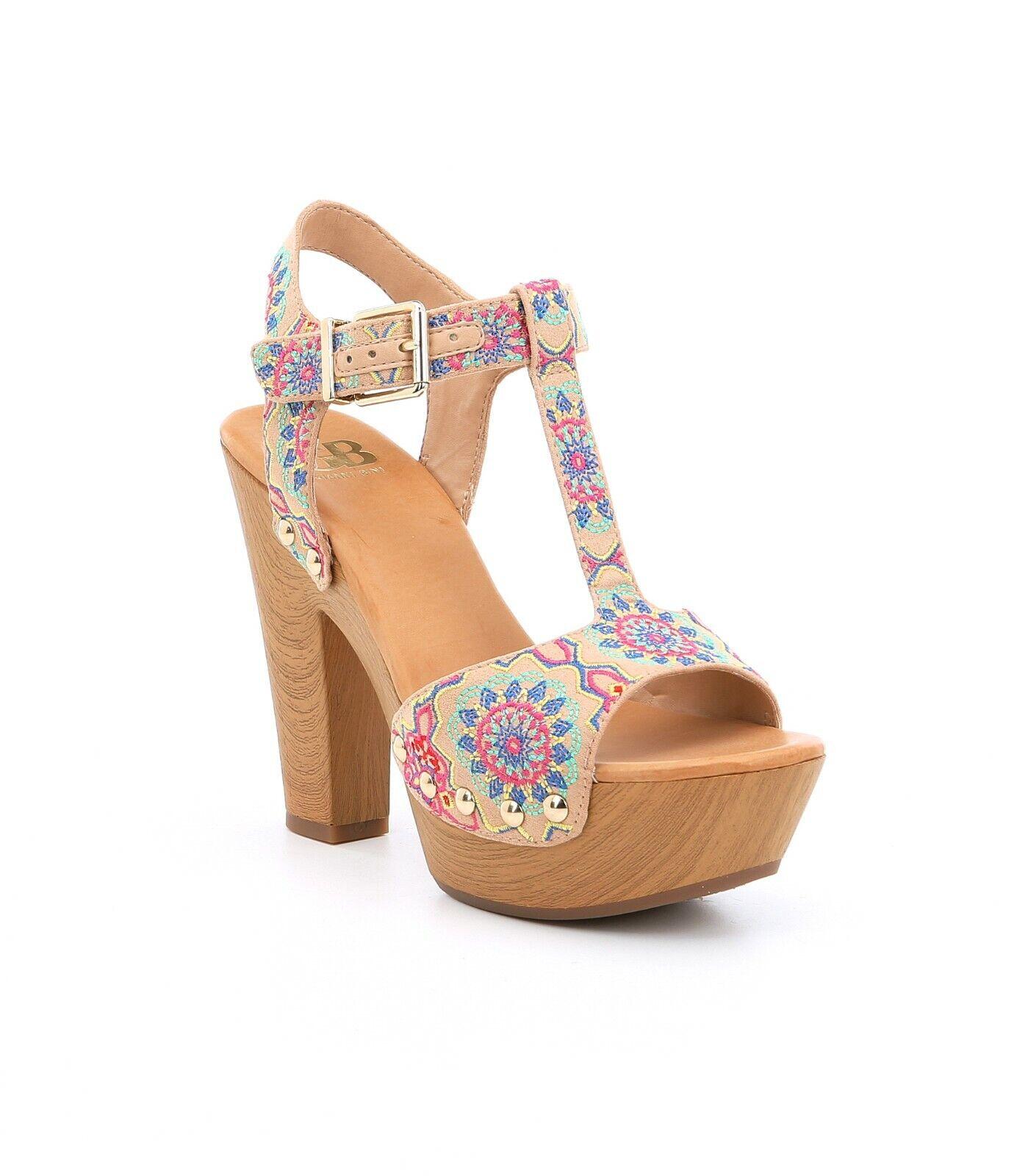 GB Gianni Bini En -Chant donna Dimensione 8M Boho  Emmooidery Platform Block Heel Sandal  risparmia fino al 70%