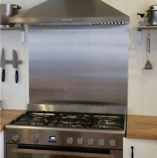 Brushed Stainless Steel Kitchen Cooker SPLASHBACK  - All Sizes