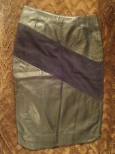 SALE BNWT RRP £160 Of The Realm Leather and Suede Black Pencil Skirt UK Size 12