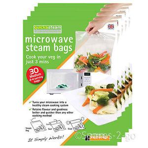 QUICKASTEAM Medium Microwave Steam Cook Bags x 150   eBay