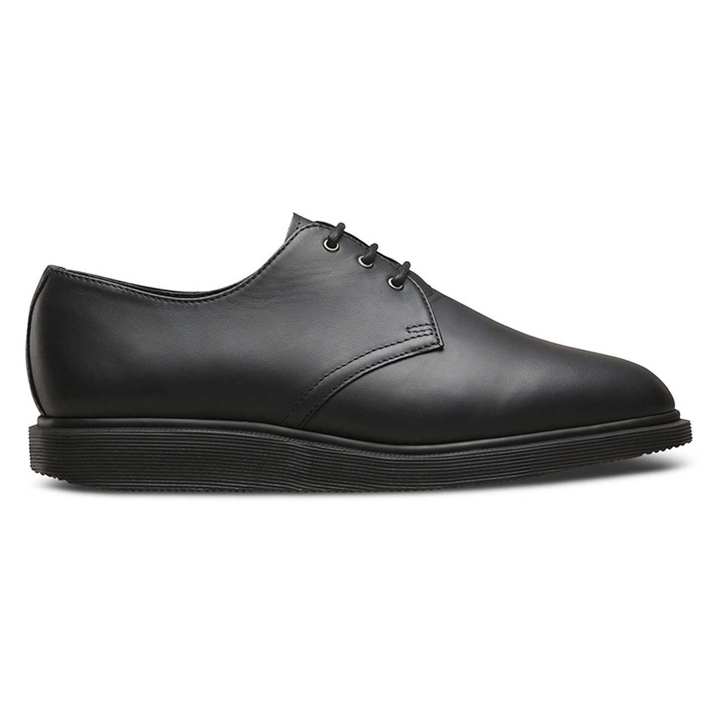 Cómodo y bien parecido Dr. Martens 1461 3 Ojal Torriano Negro para Mujer-Zapatos para hombre eeyelets