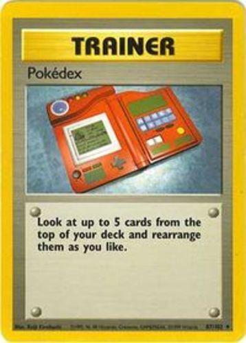 4x Pokedex Unlimited Edition Base Set Pokemon Near Mint 87//102 Uncommon