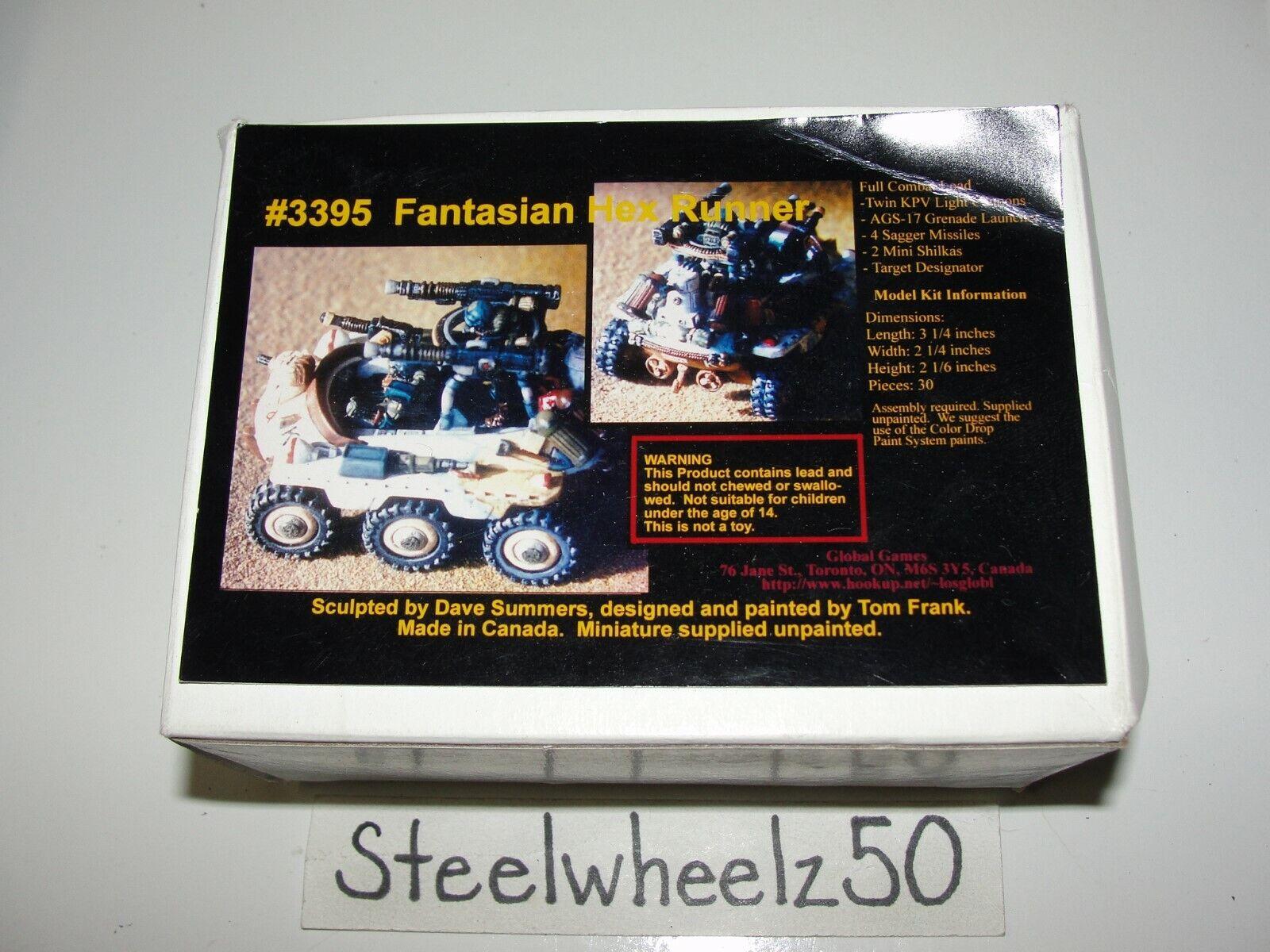 Legiones de acero miniaturas  3395 Fantasian Hex Runner Global Juegos Sin Pintar