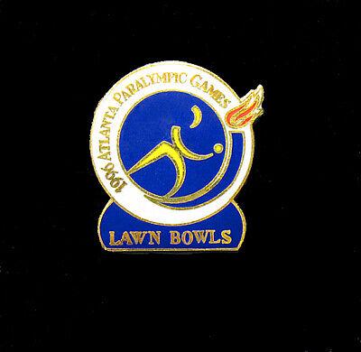 Atlanta Summer Paralympics Beautiful And Charming Impartial Paralympic Lawn Bowls Pin Sports Memorabilia Olympic Memorabilia