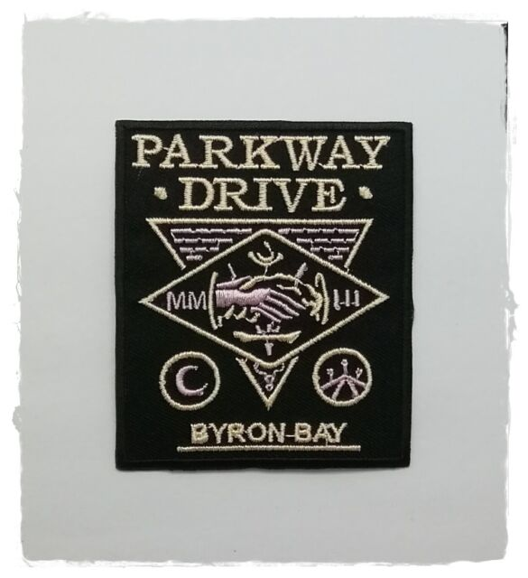 Parkway Drive Patch Sew Iron On Embroidered Rock Band Metalcore Music Logo DIY