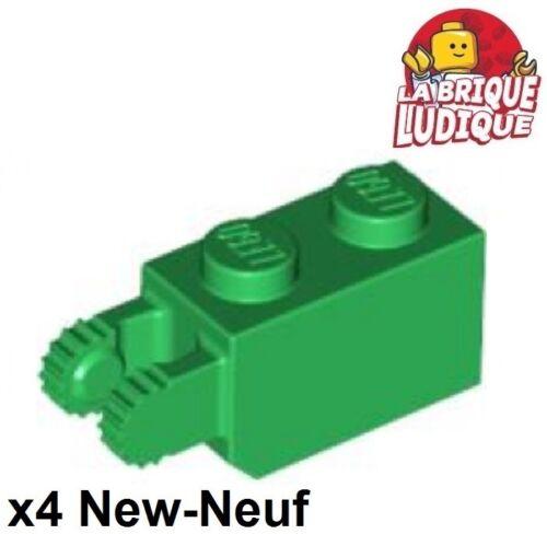 Lego 4x Scharnier Hinge Brick 1x2 Locking 2 Vertical Grün//Grün 30365 Neu