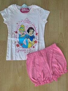 TOP Süsser Schlafanzug Shorty Pyjama DISNEY Princess rosa Gr. 92 - 128 NEU