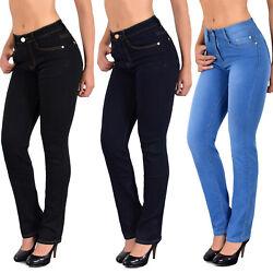 Damen Jeans Hose High Waist Jeanshose Damenjeans bis Übergröße 48 50 52 54 *J25