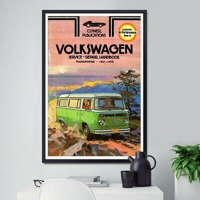 """Antique Volkswagen 1975 Rabbit /& Scirocco Handbook POSTER! up to 24/"""" x 36/"""""""